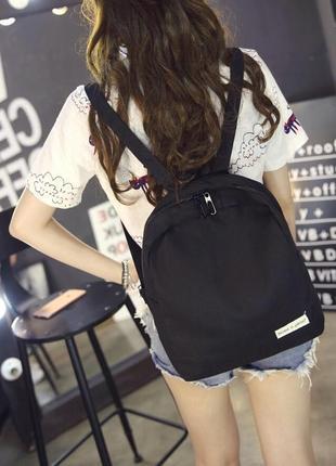 Чорний рюкзак, портфель, сумка