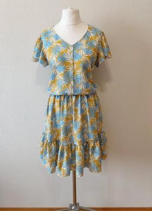 Шикарное платье рубашка с воланами