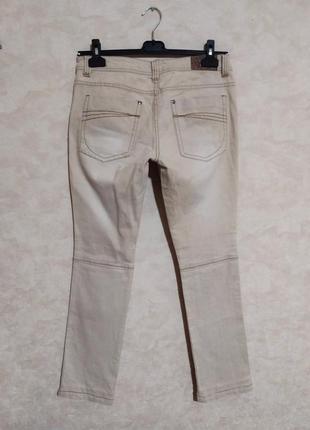 Стильные джинсы цвета беж, нюд, gina, 40/m-l