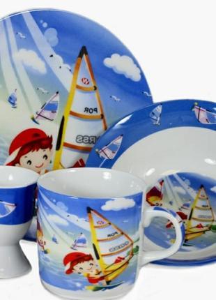 Детский набор посуды парусник
