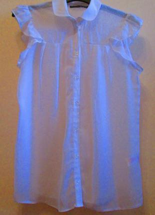 Красивая легкая белая блуза atmosphere размер 10