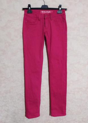 Ярко-розовые джинсы фуксия, reals jeans, m/l