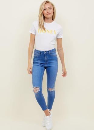 Голубые джинсы new look коттон