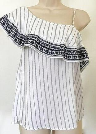 Топ блуза с воланом abercrombie&fitch4 фото