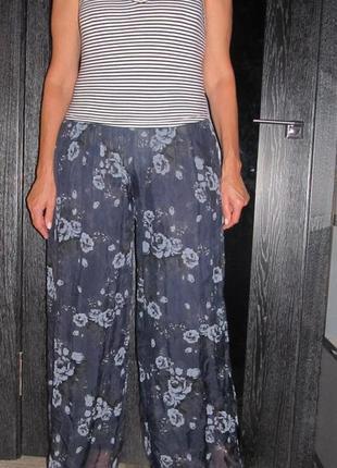 Шелковая юбка-брюки florencia р. m-l италия