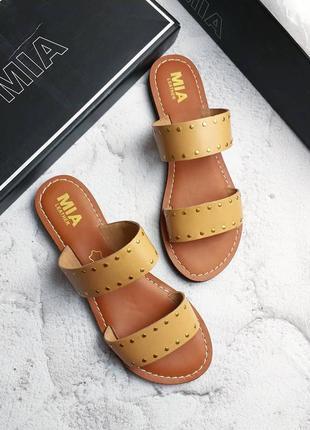 Mia оригинал кожаные босоножки сандалии