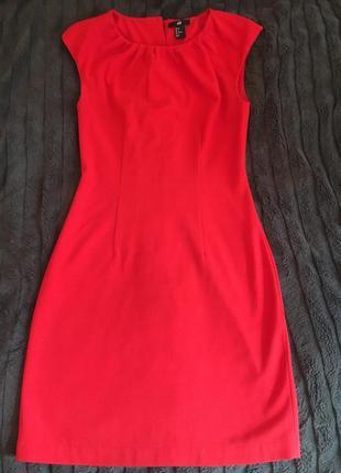 Красное алое нарядное платье h&m вечернее шикарное стильное женственное