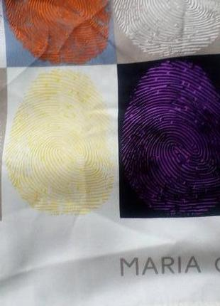 Maria galland paris,подписной шёлковый платок,69*71 см.