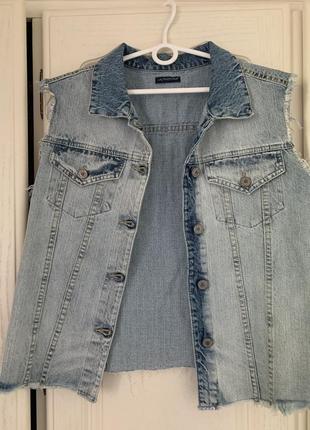 Жилетка джинсовая oversize