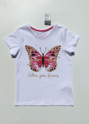 Фирменная футболка девочке подростку бабочка 🦋 primark