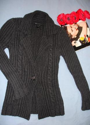 Кофта свитер пуловер джемпер mango размер 42 / 8 плотная толстая теплая вязаная женская