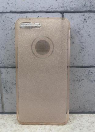 Силиконовый чехол с блестками для iphone 7 plus , 8 plus