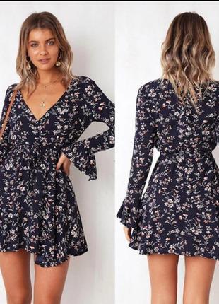 Бохо платье цветы