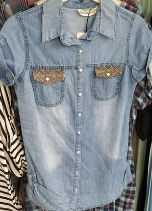 Джинсовая рубашка,размер 46