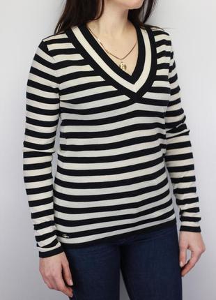 Шерстяной пуловер свитер мериносовая шерсть