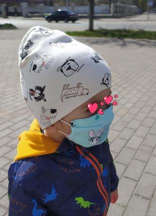 Детская маска из хлопка, многоразовая защитная