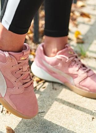 Розовые замшевые кроссовки puma aeon bridal rose оригинал пума