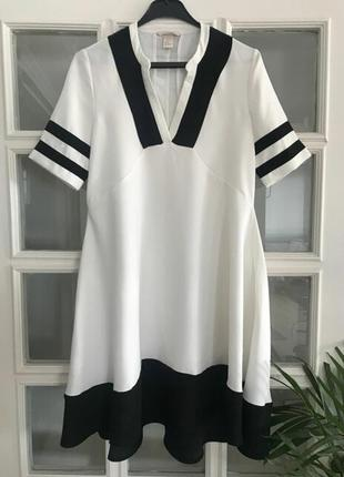 Платье оверсайз с карманами в матроском стиле,рр.с-м.