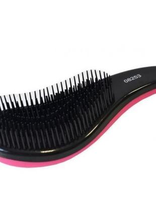 Щетка массажная розовая 17-рядная easy combing-pink 08253, hairway