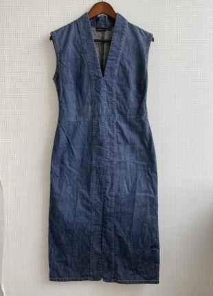 Dkny jeans платье джинсовое сарафан по фигуре