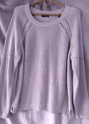 Жіночий сірий светр, європейський розмір 44-46