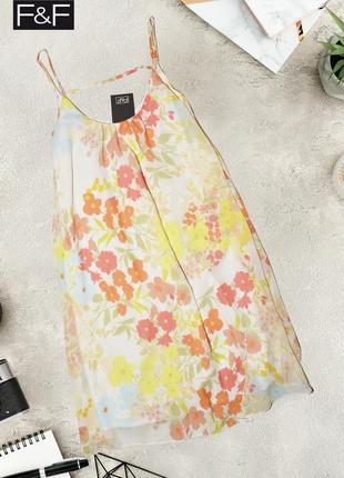 Легкое платье в цветочный принт f&f