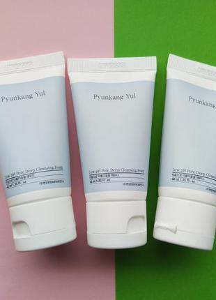 Деликатная пенка для глубокого очищения pyunkang yul low ph pore deep cleansing foam