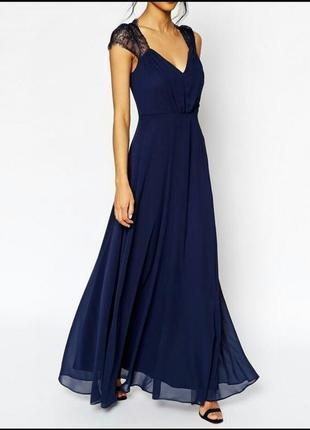 Кружевное макси платье asos