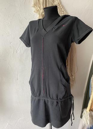 Туника чёрного цвета спортивного бренда nike! платье!