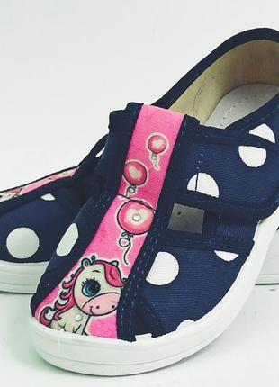 Тапочки капчики для девочки дівчини валди waldi садика сменки алина даша