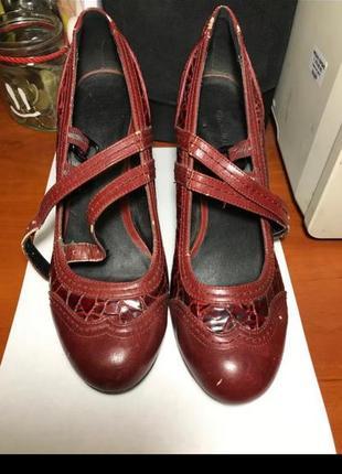 Туфли броги лоферы ретро винтаж на ремешках