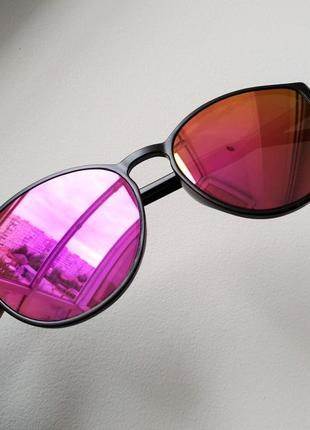 Распродажа! женские солнцезащитные зеркальные очки хамелеоны черная матовая оправа