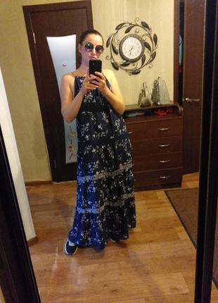 Красивый летний сарафан в пол макси zara,gap,mango,платье в пол,сарафан на брителях