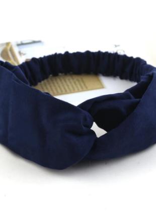 Повязка на голову чалма платок на волосы обруч узел ободок тюрбан синяя новая
