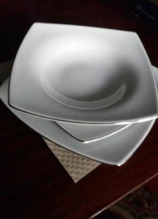 Набір квадратних порцелянових тарілок lubiana cancun 18 елементів