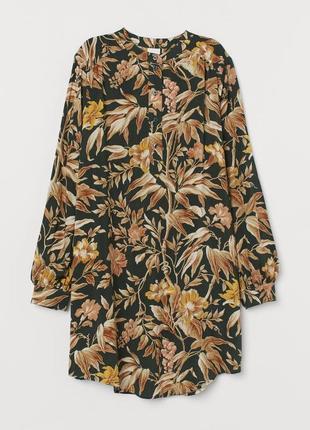 Платье сорочка oversize принт
