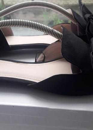Мюли черные, туфли,  босоножки острые с бантами h&m 40