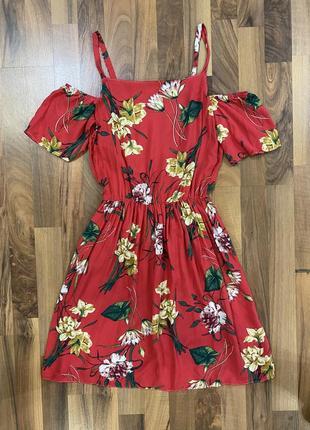 Актуальное платье в цветочек