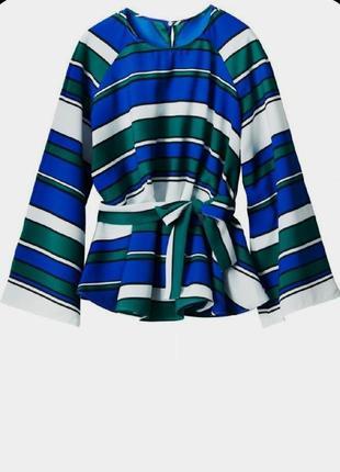 Шикарная блуза в полоску с расклешенными рукавами  h&m