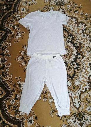 Пижама женская, футболка и бриджи