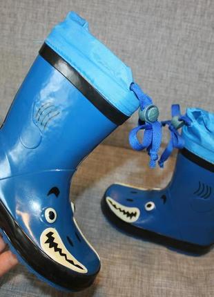 Резиновые сапоги сапожки дитячі гумові чобітки синие монстрик cortina
