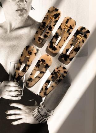 Леопардовые заколки