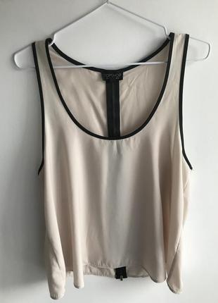 Легкая базовая шёлковая майка блуза