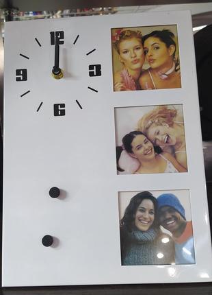 Годинник фото рамка