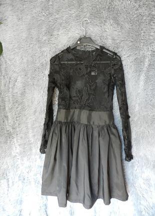 ✅ красивенное прозрачное платье с гипюром сетка