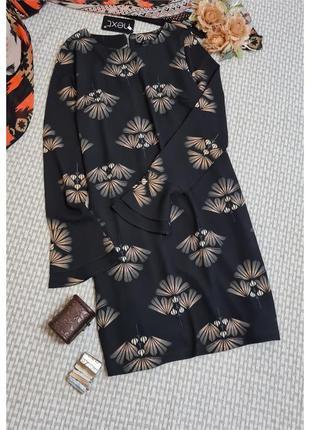 Платье next с расклешенным рукавом/с принтом