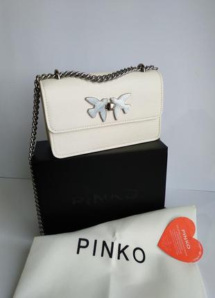 Кожаная сумочка пинко pinko белая