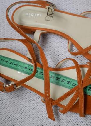 Замшевые босоножки сандали сандалии италия р.39 25 см globus shoes
