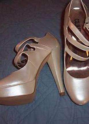 Colin stuart туфли светлые каблук р 37