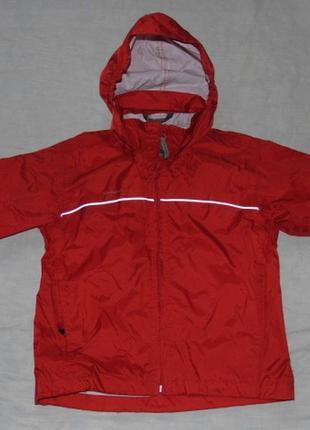 Куртка дождевик непромокайка quechua, складывается сумочкой quechua 5-6/110-116